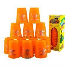ราคา Proudnada Toys Stack Cup เกมส์เรียงแก้ว สีส้ม Magic Flying Stacked Cup 12 Pcs Rapid Cup No P12 ใหม่ ถูก