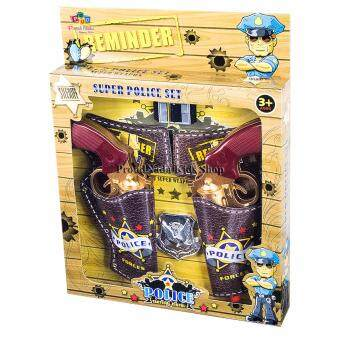 ProudNada Toys ของเล่นเด็กปืนคาบอยคู่กล่อง SUPER POLICE SET NO.999A
