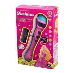 Proudnada Toys ของเล่นเด็กไมโครโฟนร้องเพลงมีเสียงมีไฟ(สีชมพู) Xinqile Fashion The Microphone No.986-4.