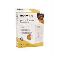 ราคา ถุงเก็บน้ำนม Pump Save Breastmilk Bags Medela 20 ชอง ใหม่