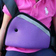 PYM ที่คาดเข็มขัดนิรภัยในรถยนต์สำหรับเด็ก สีม่วง