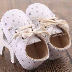 ขาย ซื้อ รองเท้าเด็ก รองเท้าหัดเดิน รองเท้าทารก ของใช้เด็กอ่อน เด็กผู้หญิง สีครีม ลายจุด