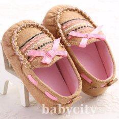 ซื้อ รองเท้าหัดเดิน รองเท้าเด็กอ่อน รองเท้าเด็กพื้นผ้า Baby Shoe Prewalker ของใช้เด็กอ่อน รองเท้าทารก รองเท้าเด็กเล็ก สีน้ำตาล กรุงเทพมหานคร