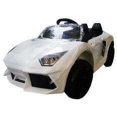 ซื้อ Rctoystory รถเด็กนั่ง รถแบตเตอรี่ เฟอร์รารี่ 2 แบต 2 มอเตอร์ สีขาว ใหม่