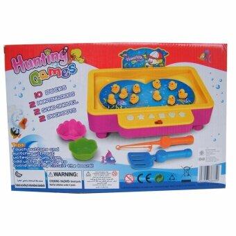 Rctoystory ของเล่นเด็ก ของเล่น เกมส์ตกปลา มีเสียงเพลง ใส่น้ำปลาว่ายได้ (สีชมพู/เหลือง)