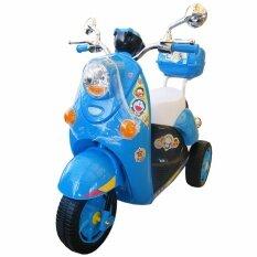 ขาย ซื้อ ออนไลน์ Rctoystory รถเด็กนั่ง รถแบตเตอรี่ รถแบตมอไซค์ โดเรม่อน สีฟ้า
