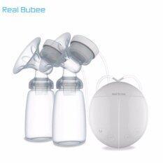 โปรโมชั่น Real Bubee Electric Automatic Dual Breast Pump With Bpa Free Bottles Intl Real Bubee