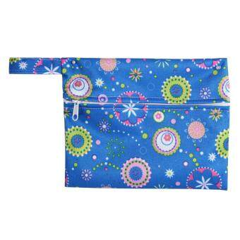 Reusable Waterproof Zip Wet Bag Pouch For Baby Infant Cloth Diapers Nappy Sanitary Pads(Blue) - intl