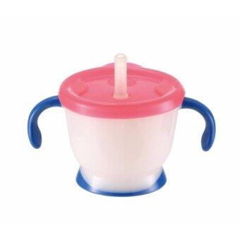 Richell แก้วหัดดูดสำหรับเด็ก แก้วมีปุ่มกดดันน้ำสำหรับหัดดูดหลอด ถ้วยหัดดูดสำหรับเด็ก รุ่น AQULEA