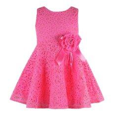 ขาย พวกเด็กผู้หญิงเสื้อดอกไม้ Rorychen แต่งตัวลูกไม้ สีชมพู่ 30 เป็นต้นฉบับ
