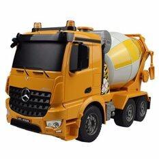 ซื้อ รถโม่ปูนบังคับวิทยุ 6 Ch Cement Mixer Truck Double Eagle สเกล 1 20 สีเหลือง Gadget ออนไลน์
