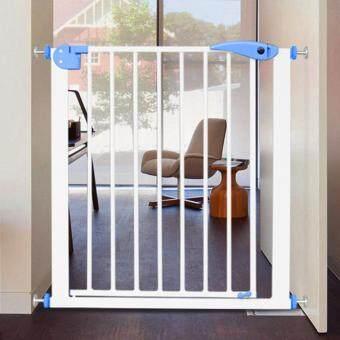 Safety Baby ที่กั้นประตู กั้นบันได พร้อมประตู รุ่น Safety Gate กว้าง 78 - 85 cm. (สีขาว/ฟ้า)
