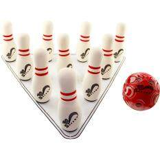 ราคา Safsof ชุดโบว์ลิ่งในกระเป๋าสะพาย รุ่น Jbb 01 1 B C สีขาว บอลสีแดง เป็นต้นฉบับ Safsof