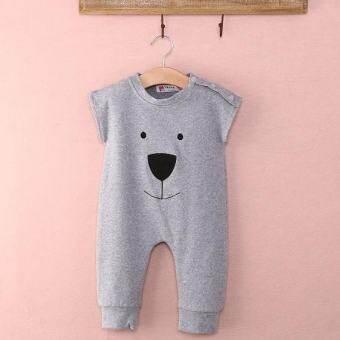 SDP ชุดติดกันฤดูหนาวสำหรับทารกน่ารักสำหรับเด็กวัยหัดเดินสาว Boy หมี Playsuit ชุดจั๊มเปอร์ Rompers เสื้อผ้า 0-24 เมตร (สีเทา) - INTL-