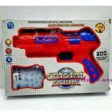 ราคา Share ปืน Crystal Fighter ปืนสั้นอัดลม กระสุนโฟม กระสุนน้ำ มีไฟ และอินฟาเรด สีแดง