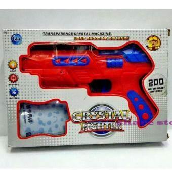share ปืน Crystal Fighter ปืนสั้นอัดลม กระสุนโฟม-กระสุนน้ำ มีไฟ และอินฟาเรด (สีแดง)