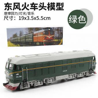 Sheng-ฮุ่ย 1: 87 VIVIENNE TAM หัวรถจักรโลหะผสมแบบจำลองมีแสงและเสียง Warrior คลาสสิกสีเขียวโมเดลรถไฟรถของเล่นเด็ก-