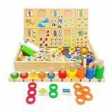 ทบทวน Jkp Toys ของเล่นไม้เสริมพัฒนาการ กล่องไม้สอนนับเลขพร้อมกระดาน ห่วงสวมหลัก