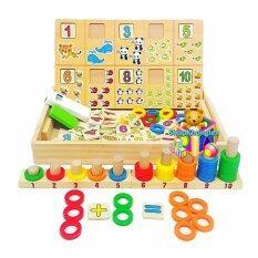 ซื้อ Jkp Toys ของเล่นไม้เสริมพัฒนาการ กล่องไม้สอนนับเลขพร้อมกระดาน ห่วงสวมหลัก ใหม่ล่าสุด