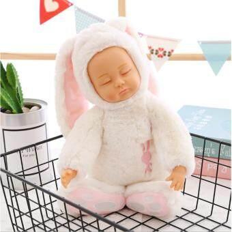 ตุ๊กตาเด็กหลับชุดกระต่ายหูยาว อัดเสียงพูดได้ (size L/40 cm.) Sleepy doll ทารกนอนหลับ bieber ตุ๊กตาเด็กเหมิอนจริง reborn lifelike Doll ของเล่นตุ๊กตาเด็กผู้หญิง