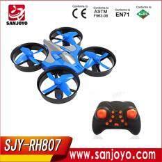 sjy-Rh807 mini drone rc quadcopter  with led lights  orange.