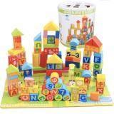 ซื้อ Sk Toys บล๊อคไม้สร้างเมือง 100 ชิ้น ลาย Abc และ ตัวเลข พื้นเป็นจิ๊กซอว์ พร้อมถุงผ้า ใหม่ล่าสุด