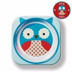 Skip Hop ชามสำหรับเด็ก ดีไซน์น่ารัก Zoo Bowl Owl Style