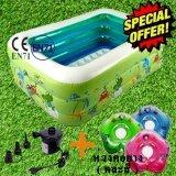 ทบทวน Smart Android Box Inflatable Pool For Kid สระว่ายน้ำสำหรับเด็ก สระน้ำเป่าลม ขนาด 130X92X52 Cm แถมฟรี ปั๊มลมไฟฟ้า ชุดปะรอยรั่ว ห่วงคอยางสำหรับเด็ก Smart Android Tv Box