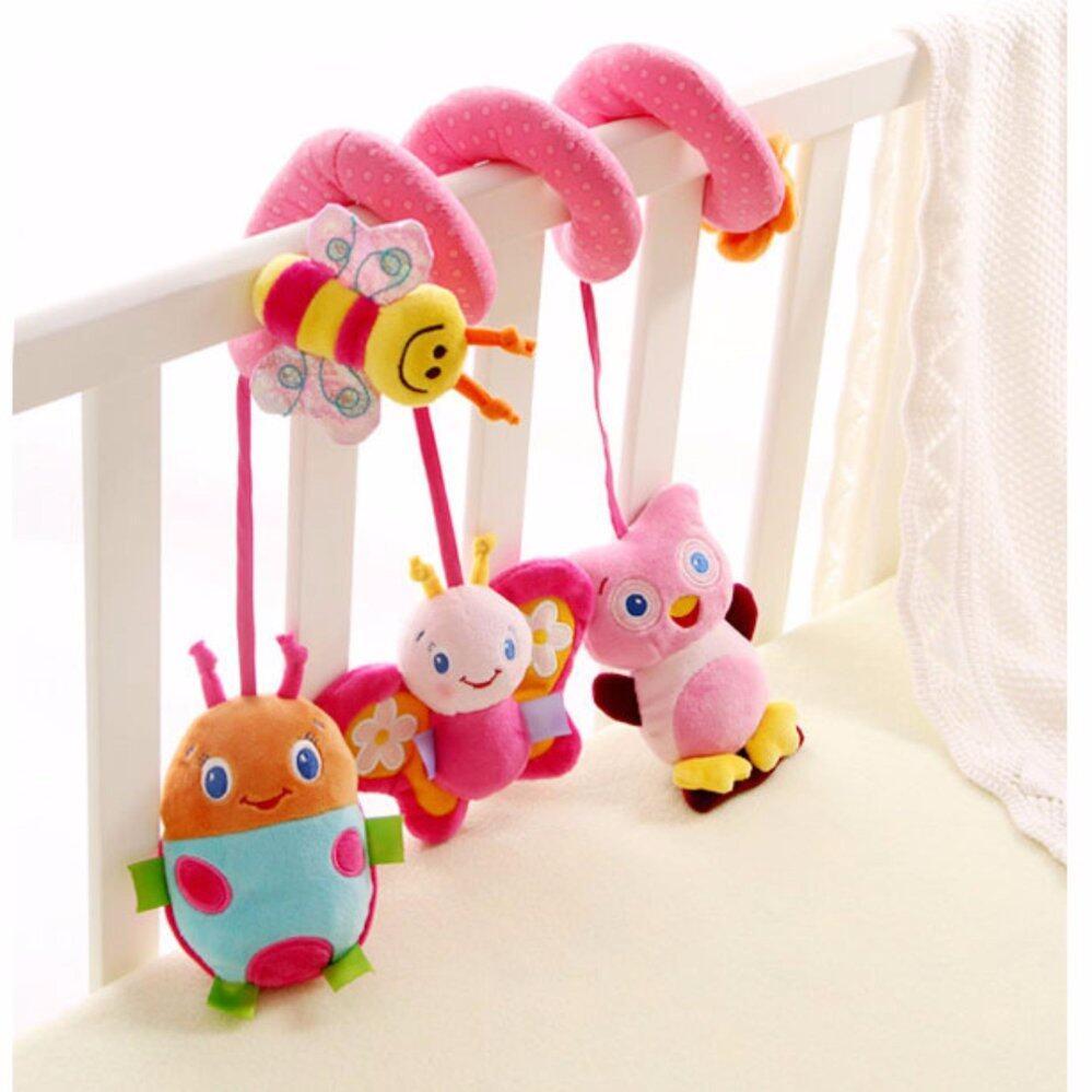 Sozzy ตุ๊กตาโมบายพันขอบเตียง/คาร์ซีท/รถเข็น ( สีชมพู)