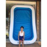 ซื้อ สระน้ำเป่าลมสีเหลี่ยมขนาด 262X175X50Cm สีฟ้า ขาว