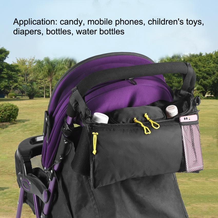 มาใหม่ KinGadgets รถเข็นเด็กสามล้อ รถเข็นเด็กสามล้อ (สีดำ) พร้อมห่วงล็อคนิรภัยรอบเอวกันตก (Black) ของแท้ ส่งฟรี