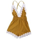 ซื้อ Summer Newborn Toddler Infant Baby G*rl One Piece Jumpsuit Rompers Bodysuit Outfits Clothes Sleeveless Backless With Sweet Lace Ribbon Size 90 For 12 18 Months Intl ใน จีน