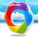ขาย Summer Thicken Inflatable Swim Ring Rainbow Wreath Shape Swim Floating Swimming Laps Intl ออนไลน์