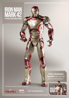 SUPER ALLOY ¼ Scale Iron Man Mark XLII Collectible Figure ไอรอนแมน ฟิกเกอร์ โมเดล