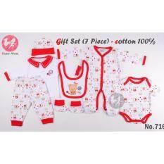 ราคา ราคาถูกที่สุด Super Mom ชุด Set สำหรับเด็กแรกเกิด รุ่น 7 ชิ้น