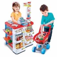 ชุดของเล่น Supermarket ซุปเปอร์มาร์เก็ต เครื่องสแกน รถเข็น (สีแดง) By Noktoys.kt.
