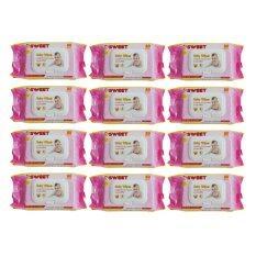 ซื้อ Sweet Baby Wipes เบบี้ไวพส์ 80แผ่น X 12ห่อ สูตรเซนส์ซิทีฟ