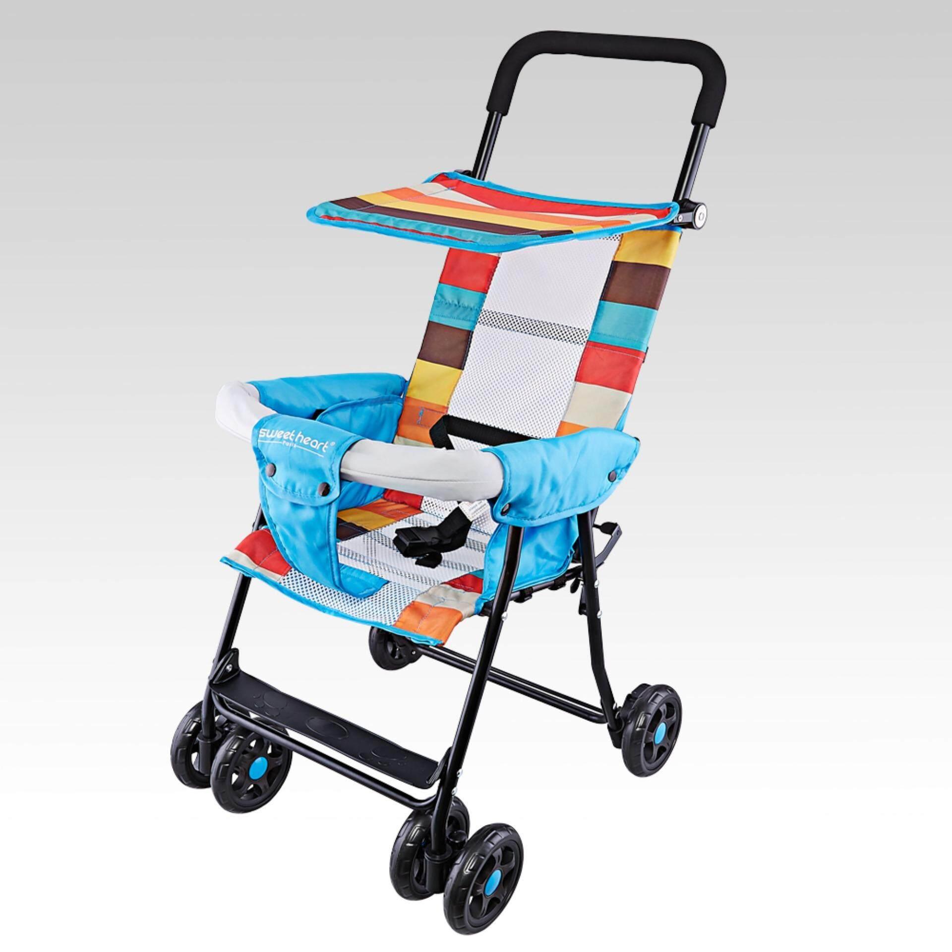 ขายถูกสุดๆ Sanpaulo รถเข็นเด็กแบบนอน Sanpaulo รถเข็นเด็ก เข็นหน้าและหลัง ปรับได้ 3 ระดับ รุ่น AL-606 แถมฟรีมุ้งกันยุง+กันแดดเท้า เคลมสินค้าได้