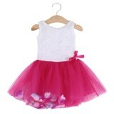 ทบทวน ที่สุด Sweet Round Collar Sleeveless Colorful Petals Baby Girls Gauze Vest Dress Age12 Intl