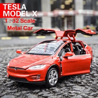 TESLA MODEL X Pull Back Toy Car 1/32 Scale Alloy Diecast Car ModelKids ToyCollection Toy - intl