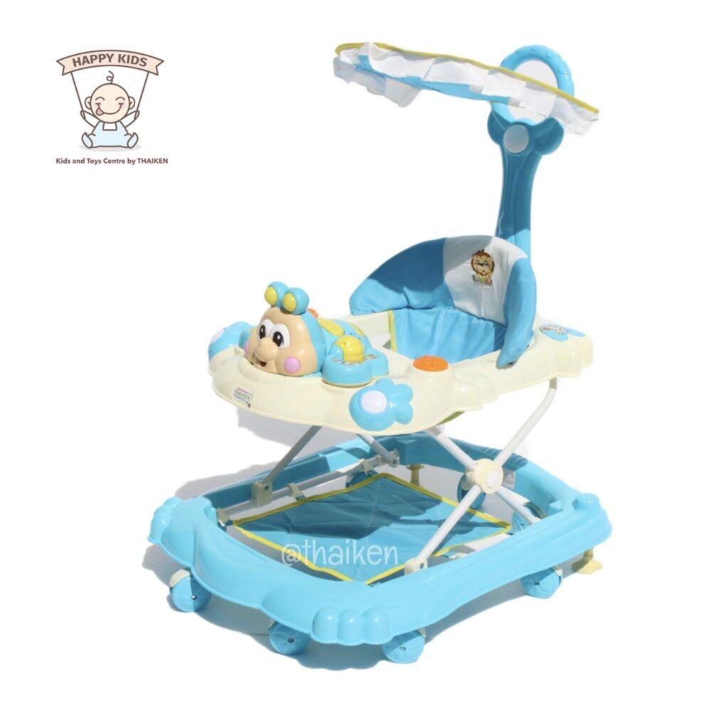 ราคา Thaiken รถหัดเดินหน้าการ์ตูน อันปัน (สีฟ้า) Baby Walker 658