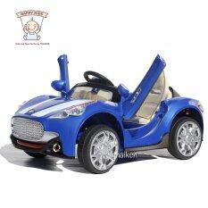 ราคา Thaiken รถเก๋งเด็กไฟฟ้า สปอร์ต 2 มอเตอร์ เปิดประตูปีกนก สีน้ำเงิน 108 Thaiken เป็นต้นฉบับ
