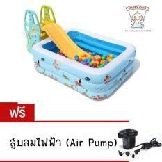 โปรโมชั่น Thaiken สระน้ำเหลี่ยม ทะเล 180X140X60Cm Sea Fish Family And Kids Inflatable Pool Jilong With Air Pump ไม่รวมสไลเดอร์กับบอล 017491 พระนครศรีอยุธยา