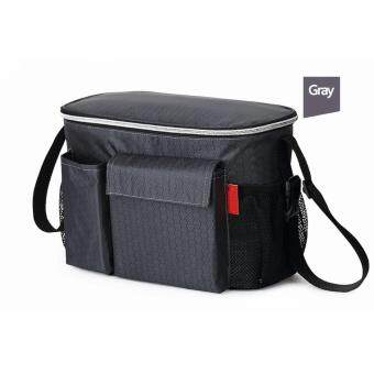 Thermal Insulation Mommy Bags Waterproof Baby Diaper Bag Stroller Cooler Bag For Stroller Black