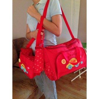 TM กระเป๋าสัมภาระคุณแม่ ยี่ห้อ MotherCare เซต 3ใบลายรถ (สีแดง)