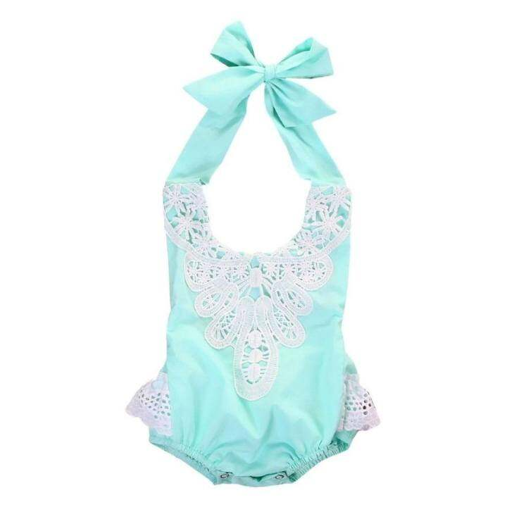 e546b6a94 ... Clothes – intl ซื้อที่ไหน Floral Toddler Baby Girl Romper Bodysuit…  รีวิว เด็กวัยหัดเดินเด็กสาวดอกไม้ปัก Halterneck Bodysuit 4 สี –  นานาชาติเสื้อผ้า