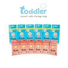 ถุงเก็บน้ำนม ท๊อตเล่อร์แฟมีลี่ Toddler Mix Breast Milk Storage Bag 336 ใบ (12 กล่อง) 7สี 7ลาย.