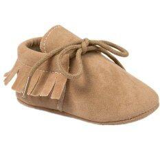 ขาย ทารกแรกเกิดบนขอบพื้นรองเท้านุ่ม ๆ สอดสีเบจเพศชายเด็กสาวฝ้ายประดับรองเท้า S1569 Intl ออนไลน์ จีน