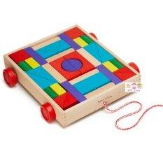 ส่วนลด Todds Kids Toys ของเล่นไม้เสริมพัฒนาการ รถบรรทุกบล็อคไม้ ล้อลาก บล็อคไม้ 36 ชิ้น Todds Kids Toys
