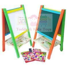 Todds & Kids Toys กระดานตั้งพื้นสำหรับวัยก่อนเข้าเรียน-วัยอนุบาล (ไวท์บอร์ดเเละกระดานดำ) .